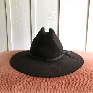 Vintage 70s Black Resistol Wide Brim Western Hat